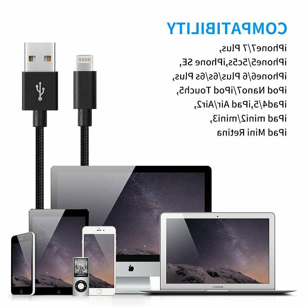 4-Pack USB Apple iPhone 5 7 8 Fast