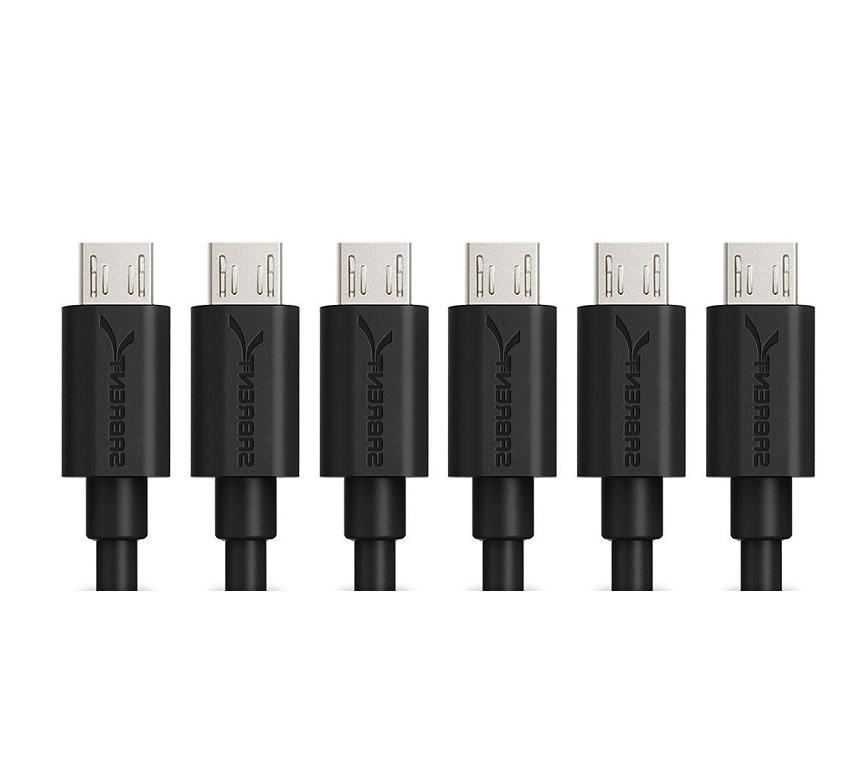 6 pack micro usb 2 0 cable