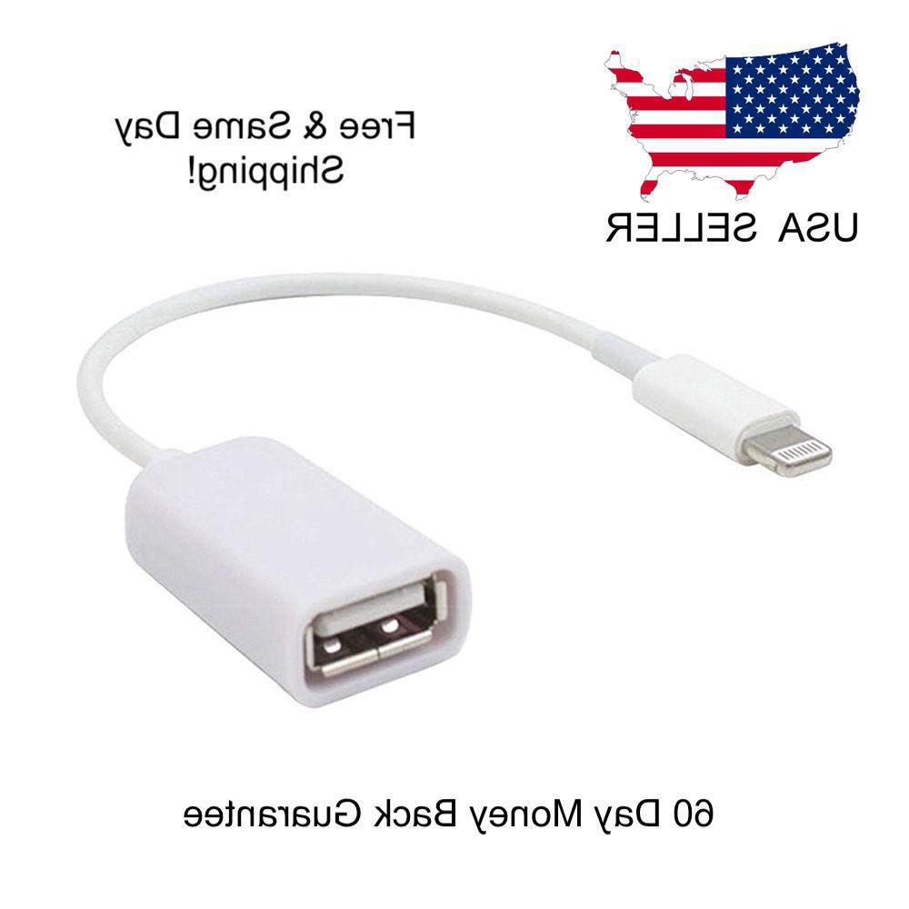 8 Pin Male To USB Female OTG Adapter Cable For iPhone 5 5s 6