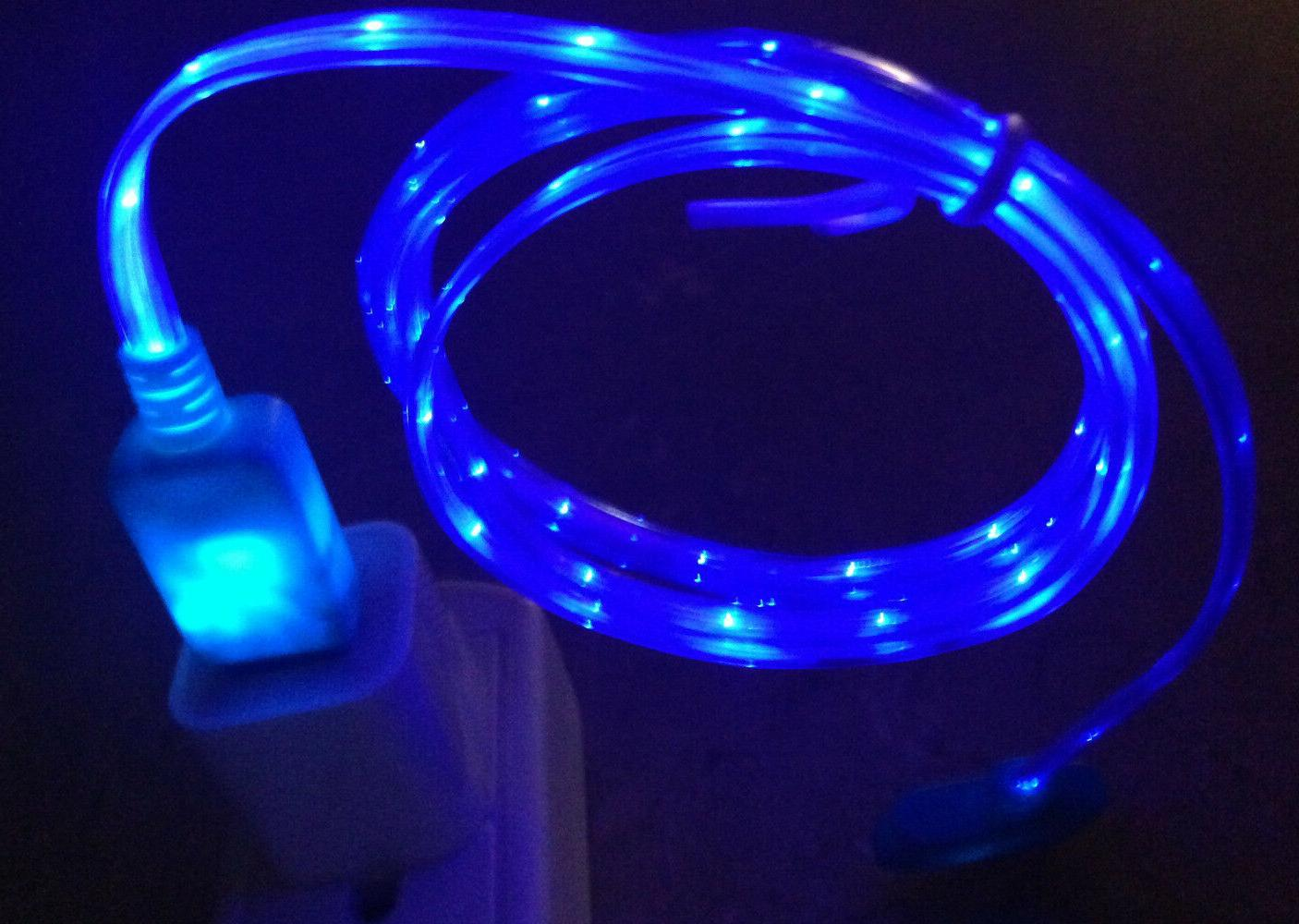 3ft LED el light-up data sync USB charger cable FOR apple iP