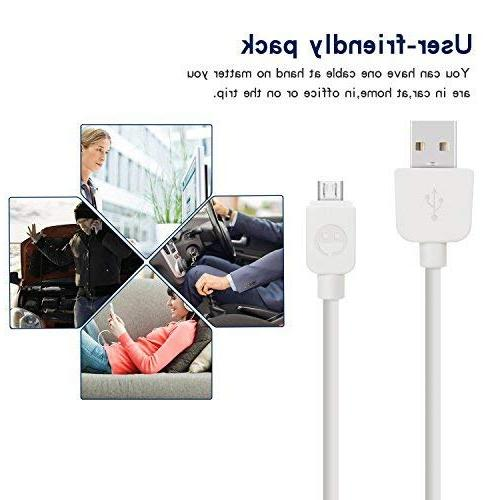 Micro Cable SMALLElectric to USB USB2.0 Sync and Cables for HTC, Xbox, PS4, Kindle, MP3, and