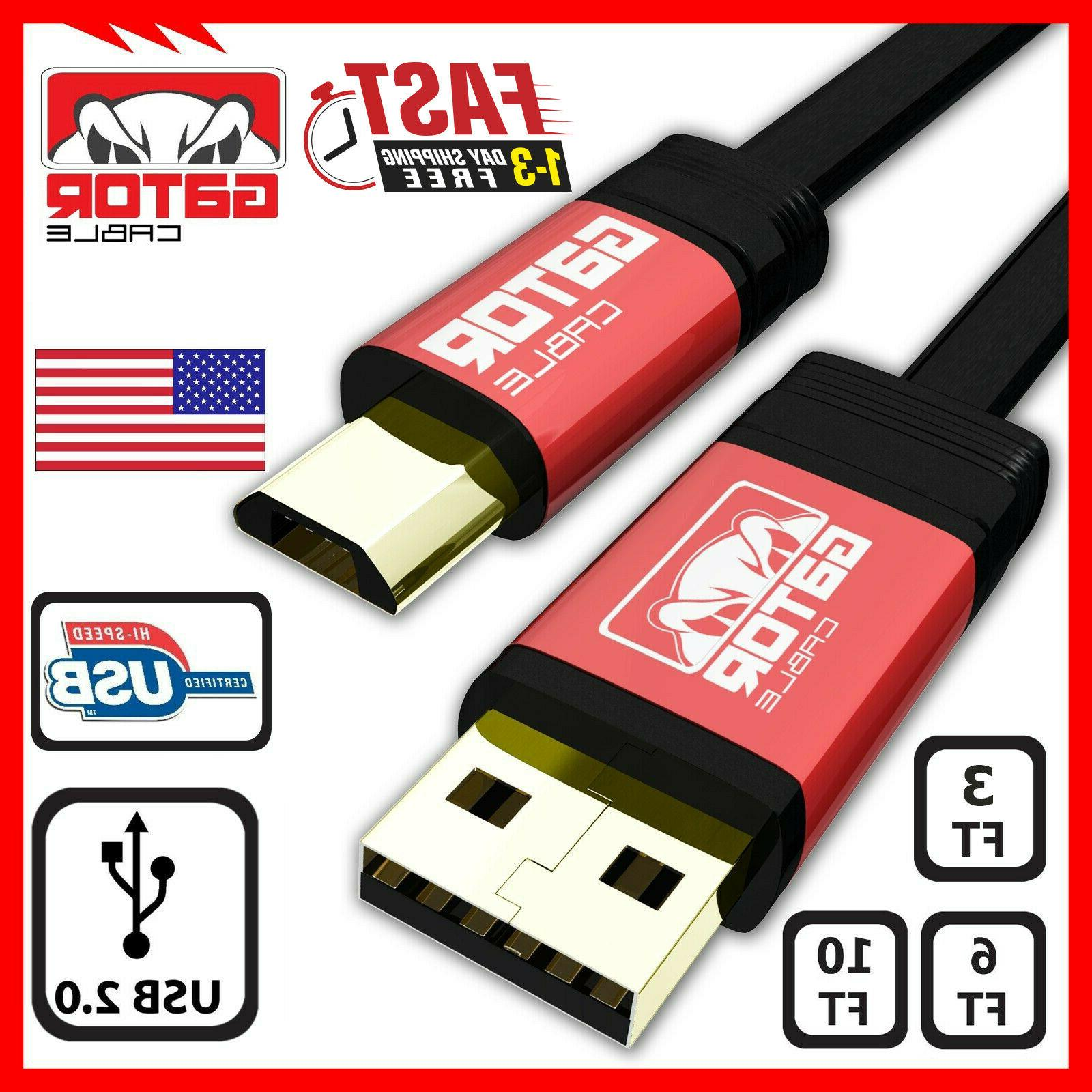 Micro USB Fast Charger Cable 2.0 Sync Data for Samsung J S4