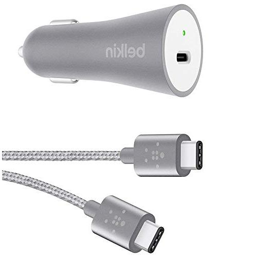 NEW Belkin Reversible USB-C 6ft Car charger & Cable Combo fo