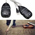 Black Guitar to USB Interface Link Cable Audio Adapter for P