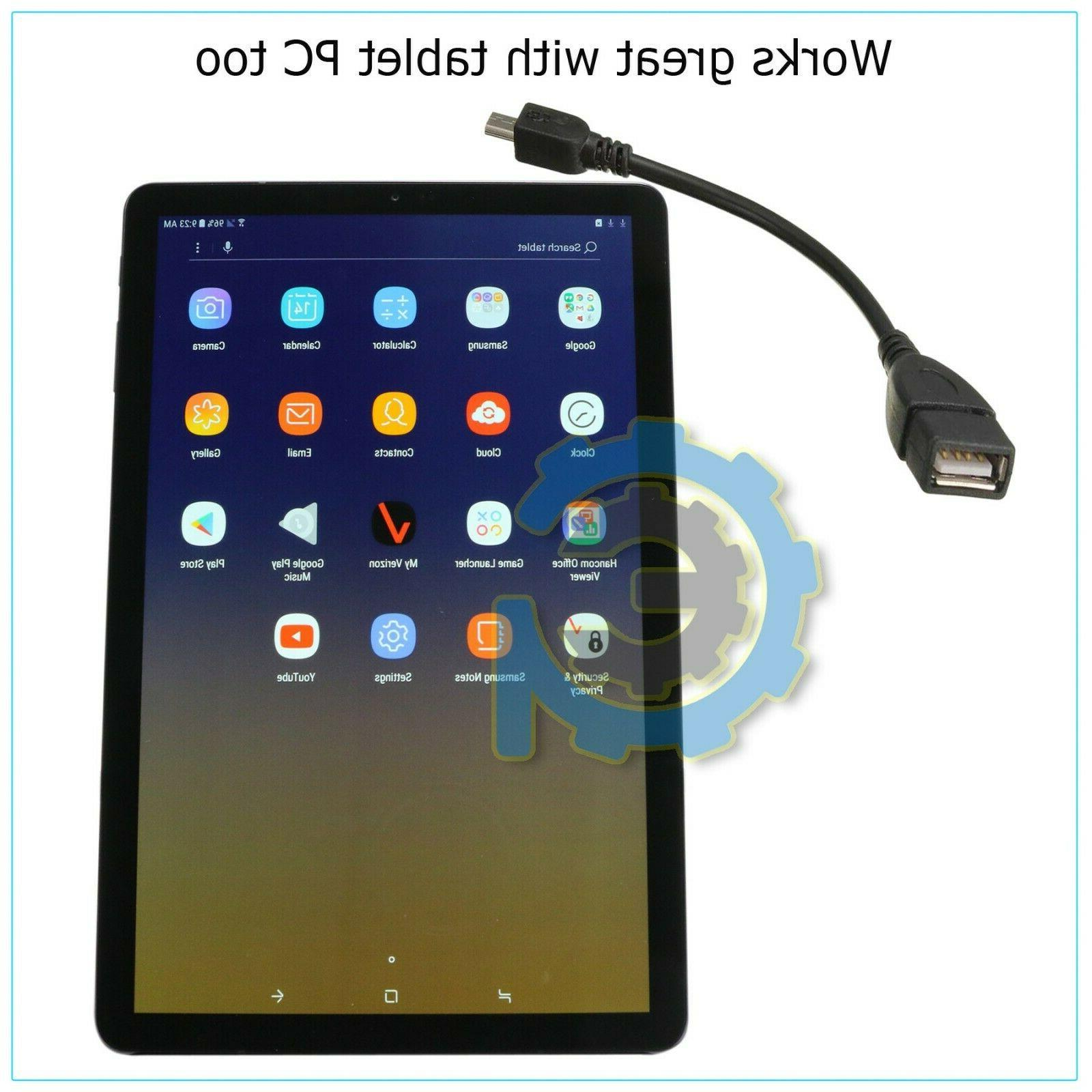 Durable Micro Host Adapter to Female Android Tablet