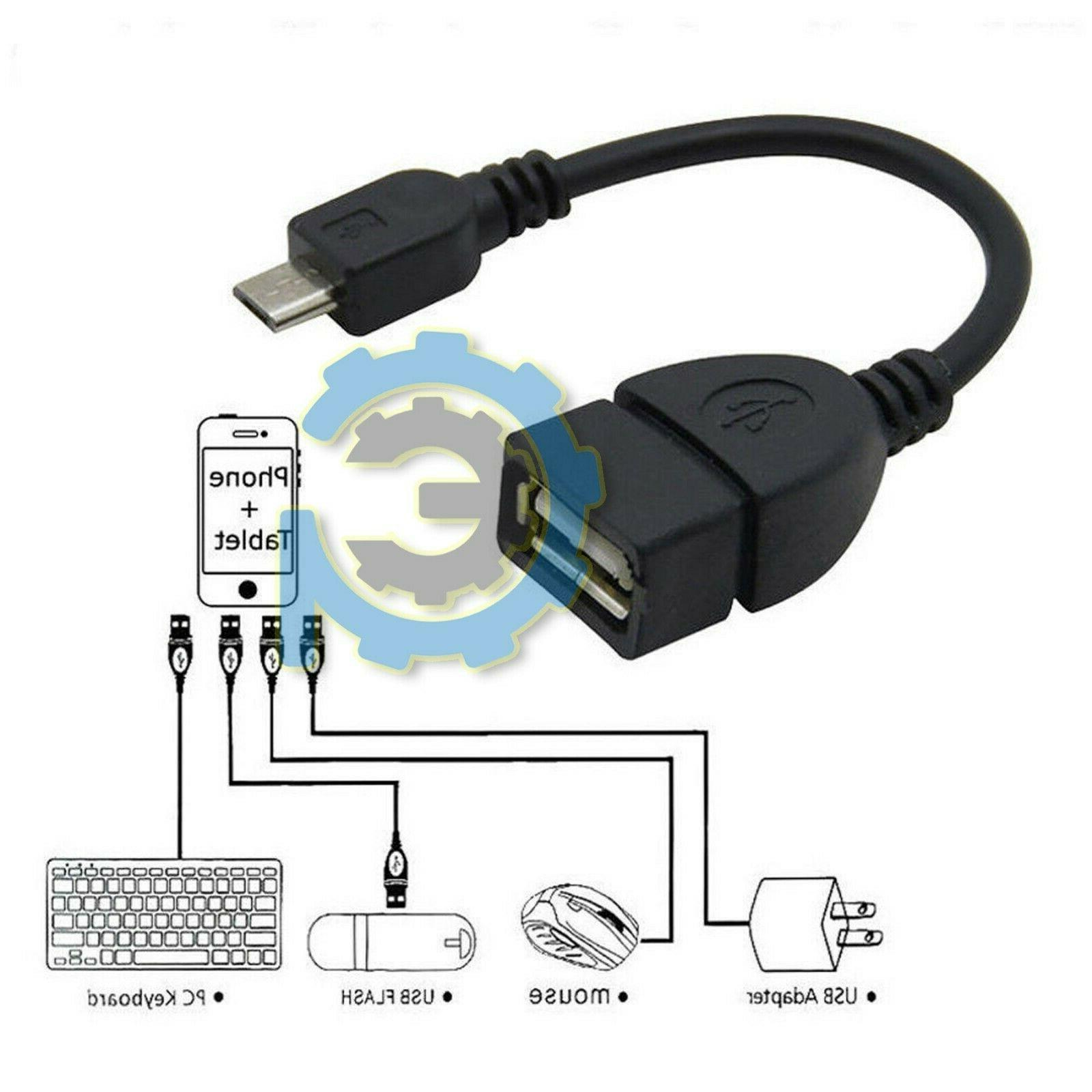 Durable Micro Host Cable to 2.0 Android Tablet