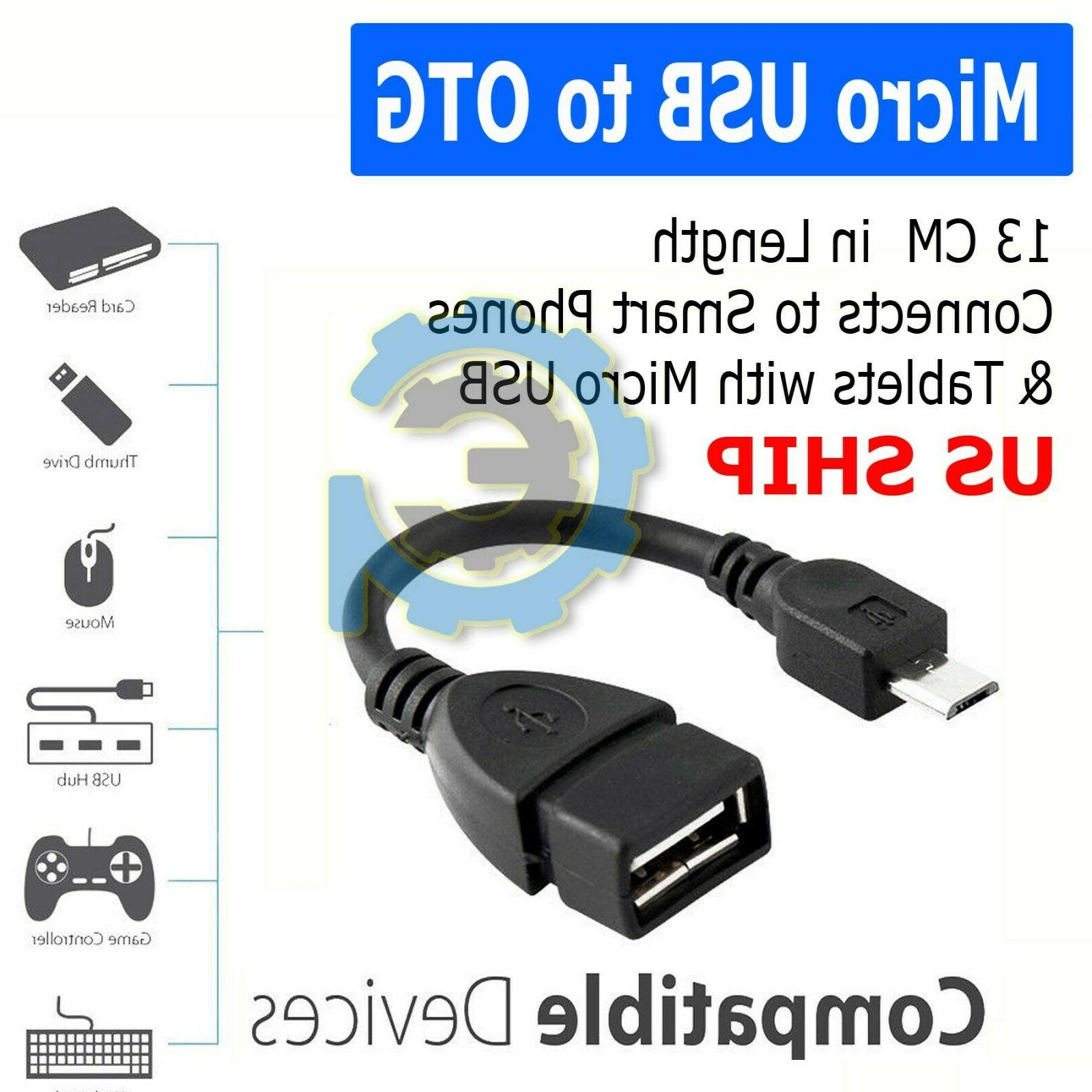 durable micro usb otg host cable adapter