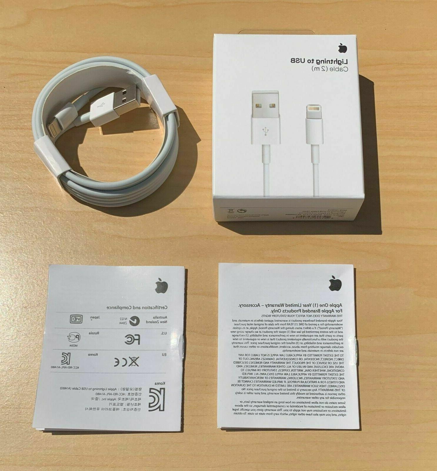Genuine iPhone 7 USB Cable Charger 2m -