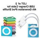 Lot of 2   USB Data Sync & Charger Cable Cord for Apple iPod