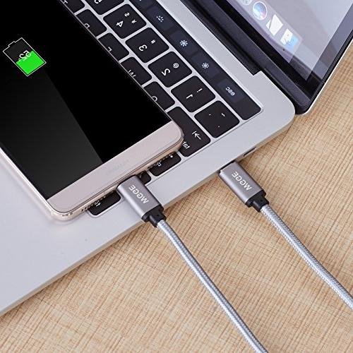 WGGE Metal C 3.1 Cable Nylon Fast Charger, Using for 13'' MacBook Nexus and