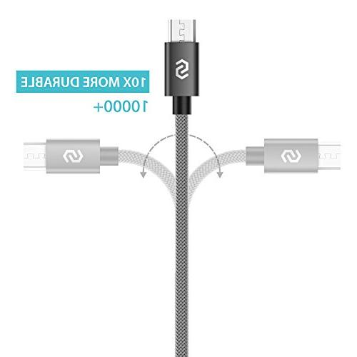 Micro USB Charger Nylon-Braided Cord Nexus, Smartphones More Space Gray