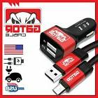 Micro USB Cable +Dual 2Port Car Charger Samsung S3 S4 S6 HTC
