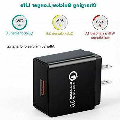 Quick 3.0 Wall Charger, iSeekerkit USB
