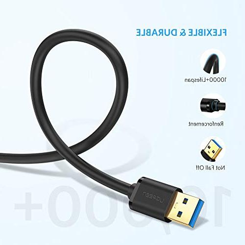 UGREEN 3.0 A to A Male to Male Cable Cord for Data Transfer Drive Enclosures, Printers, Modems,