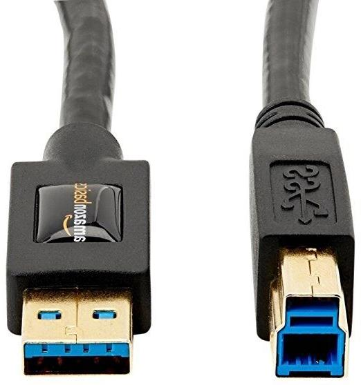 AmazonBasics USB 3.0 Cable - A-Male to B-Male - 6 FT New