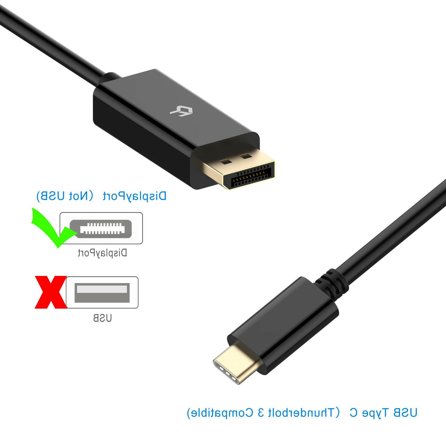 Rankie DisplayPort Cable Type C to Thunderbolt Compatible
