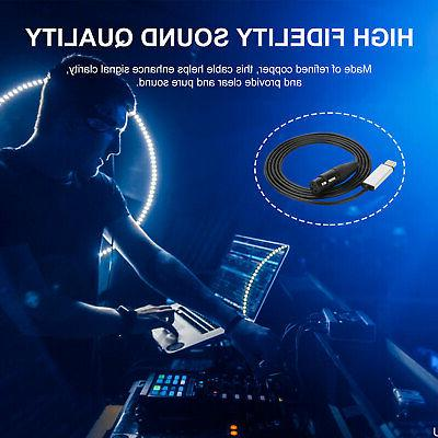 USB DMX Adapter DMX512 Controller Cable For PC