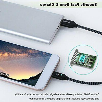 USB iSeekerKit Short C Cable Braided Charger Com