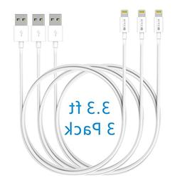 Lightning Cable, GEEPIN 3ft APPLE CERTIFIED USB Sync and Cha