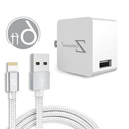6ft Lightning Cable, Cellularize 6ft iPhone Charger Braided