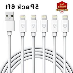 Lightning Cable, Sundix iPhone Charger 5Pack 6FT 8-Pin USB C