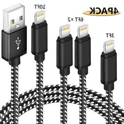 Lightning Cable,  Nylon Braided charger cable Cord Lightning