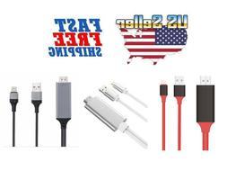 Lightning to HDMI TV AV Adapter Charger USB Cable 1080P for