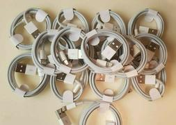 Lot of 25 PCS Apple iPhone Charger Cable 3Ft USB  WHITE iP
