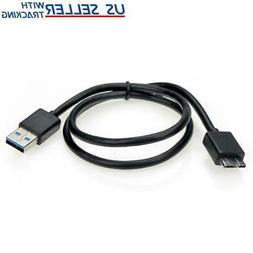 2FT Micro USB 3.0 Flat Cable for WD My Passport & My Book Ex