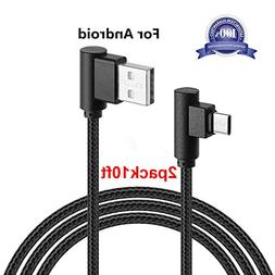 Micro USB 90 Degree Android Cable, Arukas USB to Micro USB C