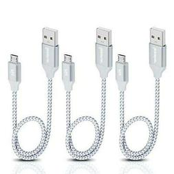 Micro USB Cable 1ft, iSeekerKit Short 2.0 A Male to B Sync a