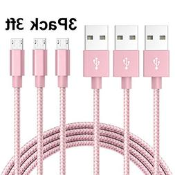 AOSON Micro USB Cable  Braided Fast Charger Cordsfor Samsung