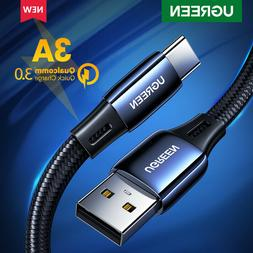 Ugreen Micro USB Cable Fast Charger Data Cable Denim Braided