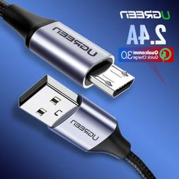 UGREEN Micro USB Cable Braided Fast Charger Data Cable For S