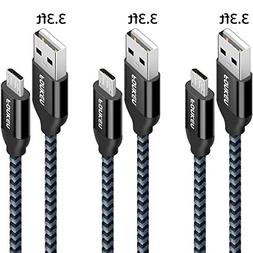 Micro USB Cable, FONKEN Android Charger Nylon Braided Quick