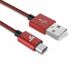 Micro USB Cables USB Cable  Rampow Nylon Braided charging co