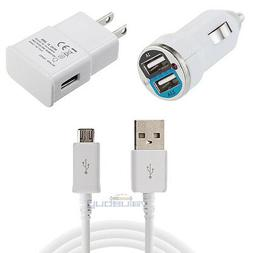 Micro USB Car Wall Power Adapter Charger Cable for Samsung G