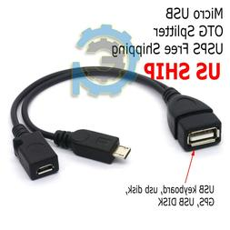 Micro USB Host OTG Cable with USB Power For Samsung / HTC /