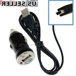 Mini USB Cable Cord & Car Power Charger Adapter Combo for Ph