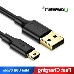 Ugreen Mini USB Cable Sync Charge Lead Type A to 5 Pin B Fr