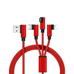 Multi Charging Cable ,LYILIN 3 in 1 Multiple USB Charging Ca