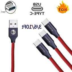 NEW Braided USB C Type-C Fast Charging Data SYNC Charger Cab