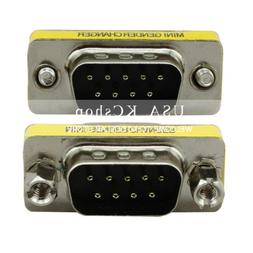 New DB9 RS-232 Male to Male Serial 9 Pin Gender Changer Coup
