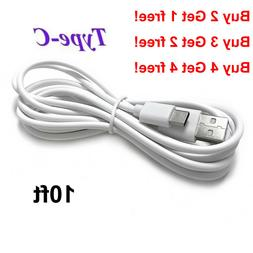 OEM 10Ft Type C USB C Cable Fast Charging Quick Charger Cord