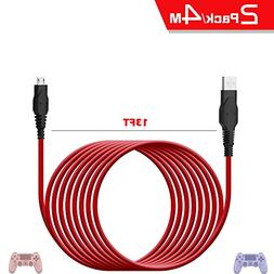 Birgus PS4 Micro USB Charger Cable,controller charger 13ft/2