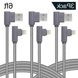 Right Angle Lightning Cable 6ft,90 Degree iPhone Charger Cor