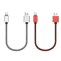 Short Braided Adapter USB Charger Charging Cable for iPhone
