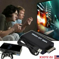 US Stock PS2 to HDMI Video Converter AV Adapter USB cable Fo