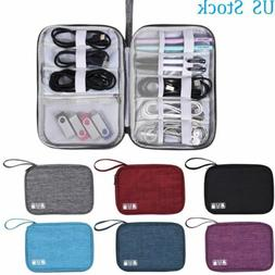 USA Travel Cable Cord Organizer Electronics Accessories Bag