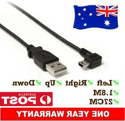 USB 2.0 A Male to Mini B 5-pin Right Left Up Down Angled Mal